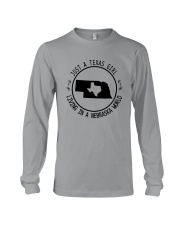 TEXAS GIRL LIVING IN NEBRASKA WORLD Long Sleeve Tee thumbnail