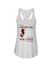 JUST A VIRGINIA GIRL IN A NEW JERSEY WORLD Ladies Flowy Tank thumbnail