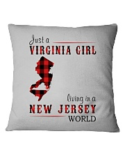 JUST A VIRGINIA GIRL IN A NEW JERSEY WORLD Square Pillowcase thumbnail