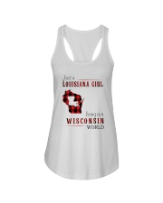 JUST A LOUISIANA GIRL IN A WISCONSIN WORLD Ladies Flowy Tank thumbnail
