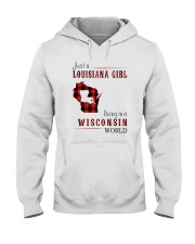 JUST A LOUISIANA GIRL IN A WISCONSIN WORLD Hooded Sweatshirt front