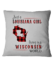 JUST A LOUISIANA GIRL IN A WISCONSIN WORLD Square Pillowcase thumbnail