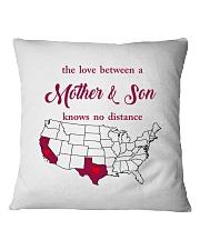 CALIFORNIA TEXAS THE LOVE MOTHER AND SON Square Pillowcase thumbnail