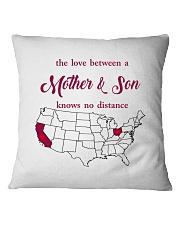 CALIFORNIA OHIO THE LOVE MOTHER AND SON Square Pillowcase thumbnail