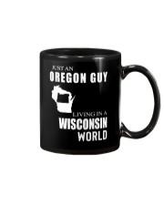JUST AN OREGON GUY IN A WISCONSIN WORLD Mug thumbnail