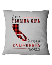 JUST A FLORIDA GIRL IN A CALIFORNIA WORLD Square Pillowcase thumbnail
