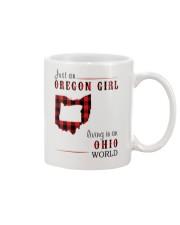 JUST AN OREGON GIRL IN AN OHIO WORLD Mug thumbnail