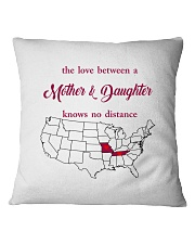 MISSOURI TENNESSEE THE LOVE MOTHER AND DAUGHTER Square Pillowcase thumbnail