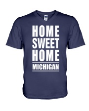 HOME SWEET HOME MICHIGAN V-Neck T-Shirt tile