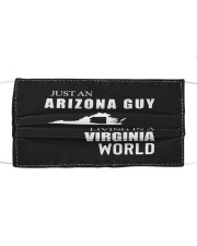 JUST AN ARIZONA GUY IN A VIRGINIA WORLD Cloth face mask thumbnail