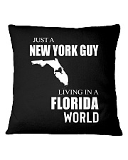 JUST A NEW YORK GUY IN A FLORIDA WORLD Square Pillowcase thumbnail