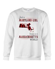 JUST A MARYLAND GIRL IN A MASSACHUSETTS WORLD Crewneck Sweatshirt thumbnail