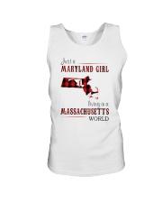JUST A MARYLAND GIRL IN A MASSACHUSETTS WORLD Unisex Tank thumbnail