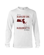 JUST A MARYLAND GIRL IN A MASSACHUSETTS WORLD Long Sleeve Tee thumbnail