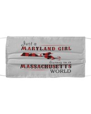 JUST A MARYLAND GIRL IN A MASSACHUSETTS WORLD Cloth face mask thumbnail