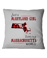 JUST A MARYLAND GIRL IN A MASSACHUSETTS WORLD Square Pillowcase thumbnail