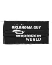JUST AN OKLAHOMA GUY IN A WISCONSIN WORLD Cloth face mask thumbnail