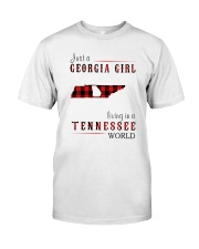 JUST A GEORGIA GIRL IN A TENNESSEE WORLD Classic T-Shirt thumbnail