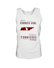 JUST A GEORGIA GIRL IN A TENNESSEE WORLD Unisex Tank thumbnail