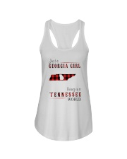 JUST A GEORGIA GIRL IN A TENNESSEE WORLD Ladies Flowy Tank thumbnail