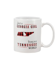 JUST A GEORGIA GIRL IN A TENNESSEE WORLD Mug tile