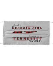 JUST A GEORGIA GIRL IN A TENNESSEE WORLD Cloth face mask thumbnail