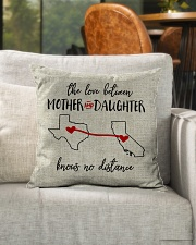 """TEXAS CALIFORNIA THE LOVE MOTHER AND DAUGHTER Indoor Pillow - 16"""" x 16"""" aos-decorative-pillow-lifestyle-front-04"""
