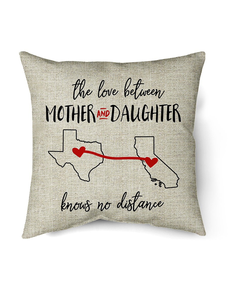 """TEXAS CALIFORNIA THE LOVE MOTHER AND DAUGHTER Indoor Pillow - 16"""" x 16"""""""
