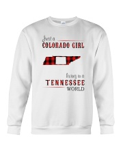 JUST A COLORADO GIRL IN A TENNESSEE WORLD Crewneck Sweatshirt thumbnail