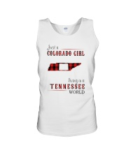 JUST A COLORADO GIRL IN A TENNESSEE WORLD Unisex Tank thumbnail