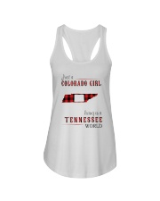 JUST A COLORADO GIRL IN A TENNESSEE WORLD Ladies Flowy Tank thumbnail