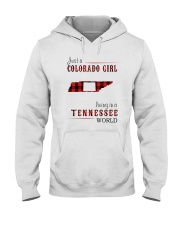JUST A COLORADO GIRL IN A TENNESSEE WORLD Hooded Sweatshirt front