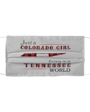 JUST A COLORADO GIRL IN A TENNESSEE WORLD Cloth face mask thumbnail