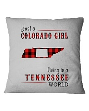 JUST A COLORADO GIRL IN A TENNESSEE WORLD Square Pillowcase thumbnail