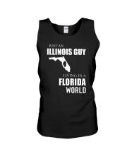 JUST AN ILLINOIS GUY IN A FLORIDA WORLD Unisex Tank thumbnail