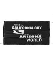 JUST A CALIFORNIA GUY IN AN ARIZONA WORLD Cloth face mask thumbnail