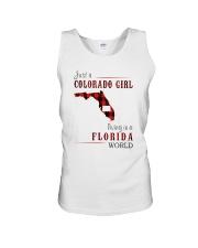 JUST A COLORADO GIRL IN A FLORIDA WORLD Unisex Tank thumbnail