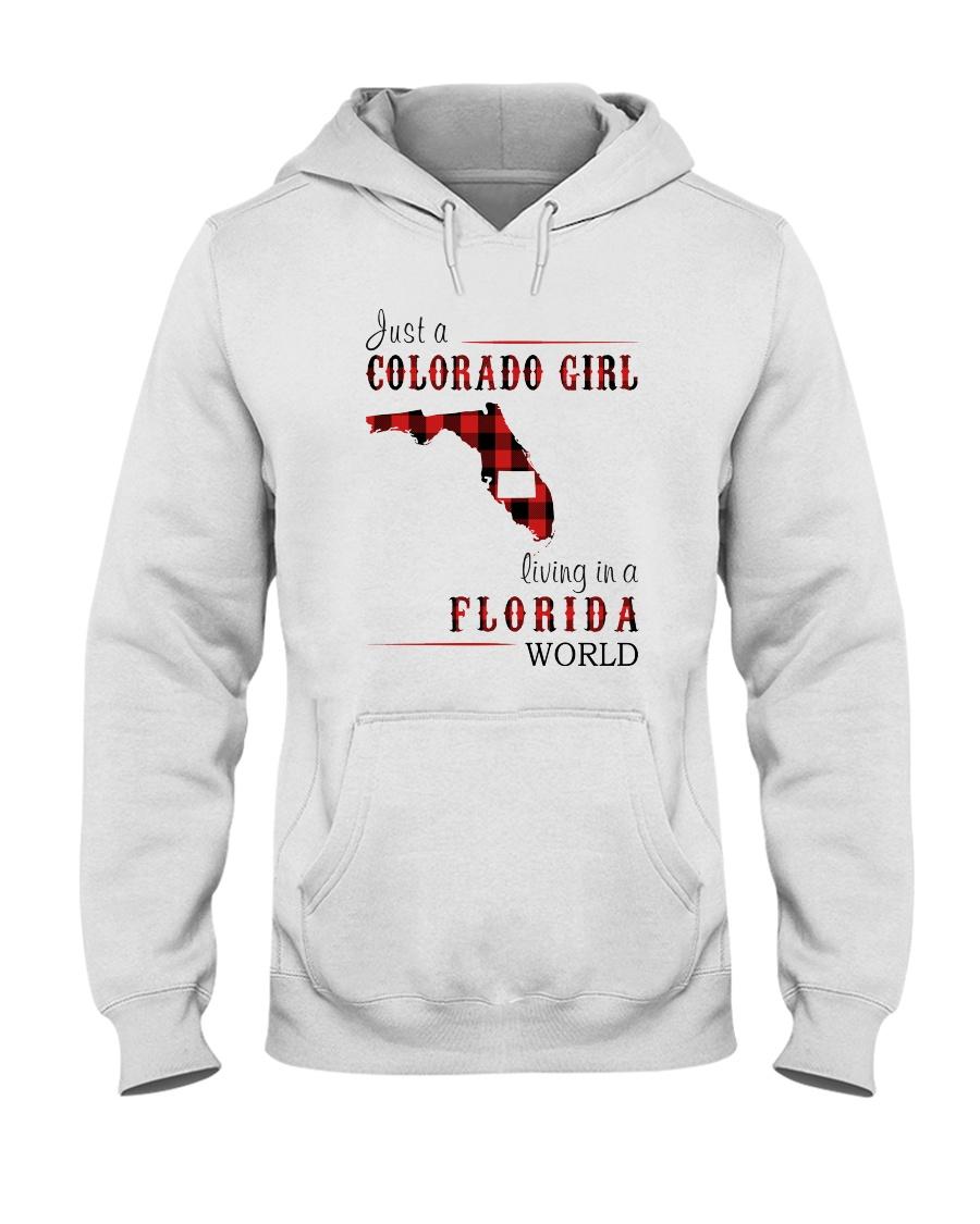 JUST A COLORADO GIRL IN A FLORIDA WORLD Hooded Sweatshirt