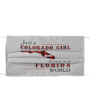 JUST A COLORADO GIRL IN A FLORIDA WORLD Cloth face mask thumbnail