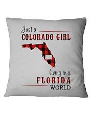 JUST A COLORADO GIRL IN A FLORIDA WORLD Square Pillowcase thumbnail