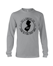 TENNESSEE GIRL LIVING IN NEW JERSEY WORLD Long Sleeve Tee thumbnail