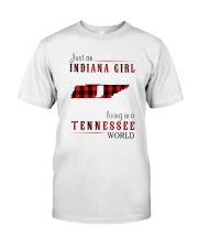 JUST AN INDIANA GIRL IN A TENNESSEE WORLD Classic T-Shirt thumbnail