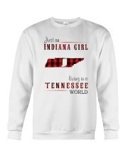 JUST AN INDIANA GIRL IN A TENNESSEE WORLD Crewneck Sweatshirt thumbnail