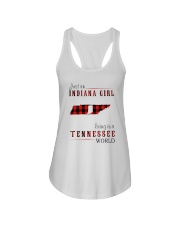 JUST AN INDIANA GIRL IN A TENNESSEE WORLD Ladies Flowy Tank thumbnail