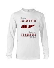 JUST AN INDIANA GIRL IN A TENNESSEE WORLD Long Sleeve Tee thumbnail