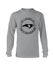 WISCONSIN GIRL LIVING IN NORTH CAROLINA WORLD Long Sleeve Tee thumbnail