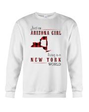 JUST AN ARIZONA GIRL IN A NEW YORK WORLD Crewneck Sweatshirt thumbnail