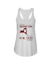 JUST AN ARIZONA GIRL IN A NEW YORK WORLD Ladies Flowy Tank thumbnail