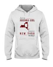 JUST AN ARIZONA GIRL IN A NEW YORK WORLD Hooded Sweatshirt front