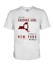 JUST AN ARIZONA GIRL IN A NEW YORK WORLD V-Neck T-Shirt thumbnail